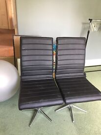 2 ex dwell chairs , not really used, pick up only
