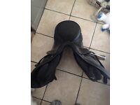 Kent &Masters quality black leather saddle