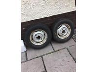 13 in trailer wheels x 2