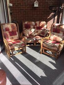 Three piece conservatory sofa set