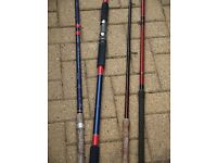 4 FISHING RODS ALL VGC -COLLECT £30
