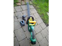 Cordless hedge trimmer RRP £39