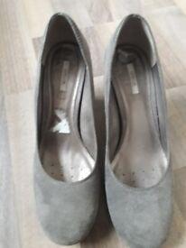 Women's grey Geox heeled shoes, UK 6