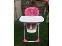 Chicco Polly High Chair (Pink Girls)