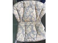 8 garden chair cushions - grey and beige