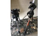 2 TRIPODS TO SELL IN EXCELLENT CONDITION SLIK V 9000 AND VELBON X VIDEO