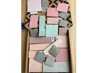 FREE tile samples, various colours and sizes