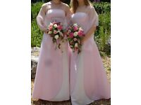 Pair of pink/ white bridesmaid dresses, only worn once!