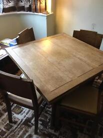 1940/50's Oak dining table and 6 chairs