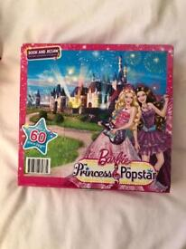 Barbie puzzle and book set