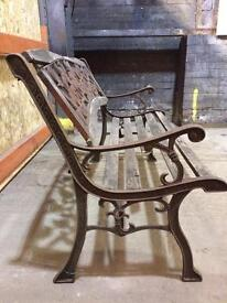 Iron sides and back rest bench restoration project