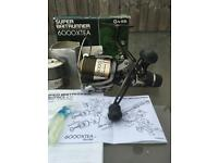 New Shimano 6000 XTEA super baitrunner fishing reel