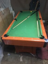 3/4 pool table New balls included