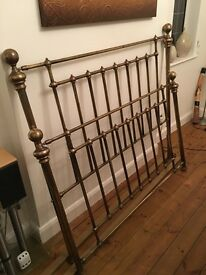 Marks and Spencers brass bed frame with divan surround