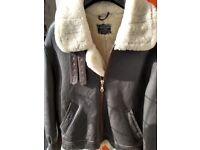 Men's Leather and Sheepskin Flying Jacket