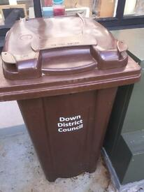 Brown Wheelie Bin