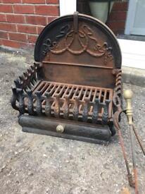 Cast Iron Fire Log Grate
