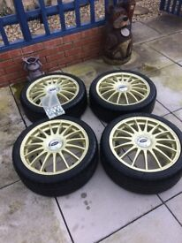 Alloy Wheels & Tyres - Team Dynamics Monza R Gold 100+