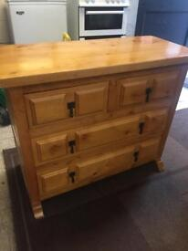 Solid pine, dovetail jointed drawers