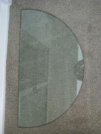 Semi circular Glass Shelf