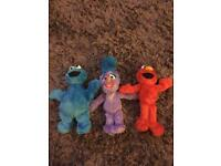 3 soft toys from sesame street