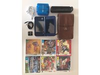 New Nintendo 3DS XL, 8 Games, DSTWO, carry case, game case, desktop charging stand and 2x USB power
