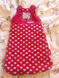 Girls sleeping bag 0-6 months 2.5 tog.