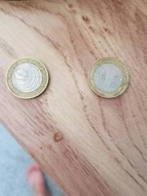 Rare peter rabbit coins for 50ps and 2 £2 coins