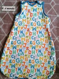 2 baby sleep bags & sleepsuit