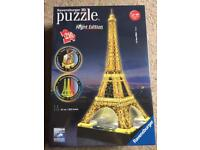Brand New Ravensburger 3D Puzzle Night Edition Eiffel Tower