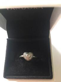 Pandora Heart Pave Ring