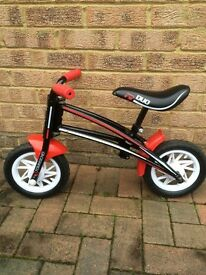 Boys balance bike red and black