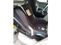 Maxi Cosi Cabriofix Car Seat And Familyfix Base Black 2 Years Old