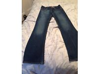 Two pair women's jeans