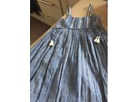 Girls age 8 Blue long dress from next brand new