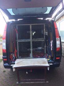 6 Glavanised dog cages