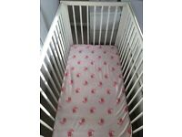 Cot bed mattress bumper