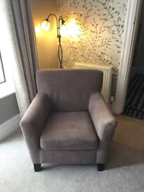 Mink coloured armchair for sale!