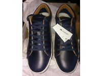 New Original Lacoste Straightset Cam Navy Mens Trainers