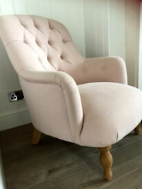 Loaf Flump Cute Chair in Faded Pink Brushed Cotton *COLLECTION ONLY**