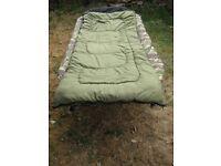 carp fishing bedchair diem peach skin sleeping bag