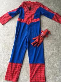 Spider-Man costume age 4-5 with webslinger glove