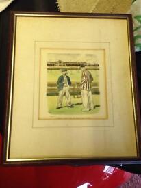 Two cricket prints