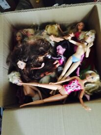Huge bundle of Mattel barbie dolls, assorted barbies and disney dolls, great condition mostly nude