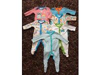 0-3 months sleepsuit bundle