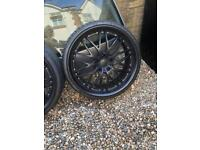 20 inch deep dish wheels with tyres set of 4