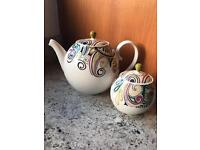 Denby Monsoon Cosmic Tea Pot & Sugar Bowl (both unused)