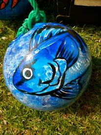Hand Painted Fish Buoys