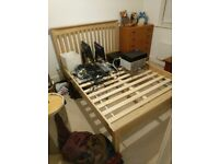 MARKS & SPENCERS HASTINGS DOUBLE BED, NATURAL WOOD, NEW AND UNUSED