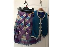 "Highland Dancing Outfit – Purple Dress Longniddry: 23 – 26"" Waist, 26"" Bust, Kilt Length 20"""